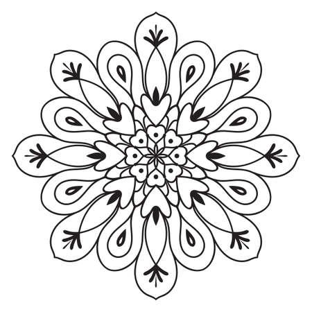 Illustration pour Abstract seamless pattern with mandala flower. Mosaic, tile. Floral background. - image libre de droit