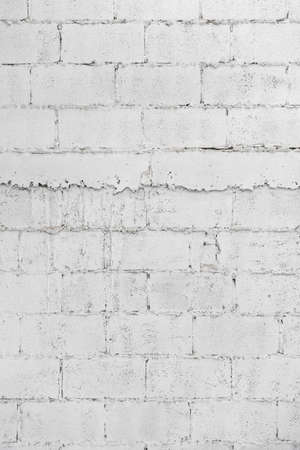 Photo pour close up of white decay brick wall abstract background wallpaper or web banner with copy space. - image libre de droit