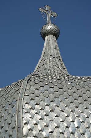 The metal roof from a Russian monastery