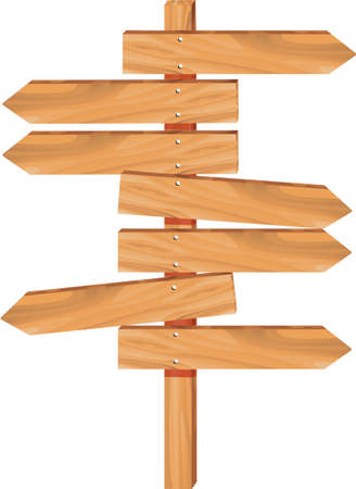 wooden arrow direction sign boards