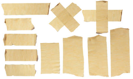 Photo pour Images of Ripped Masking Tape isolated on white - image libre de droit