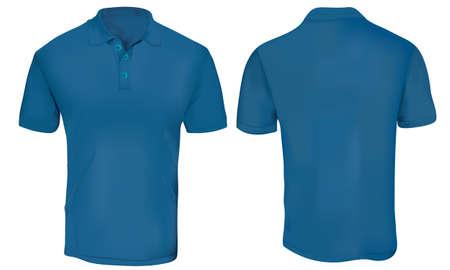 Ilustración de blue Polo Shirt Template - Imagen libre de derechos
