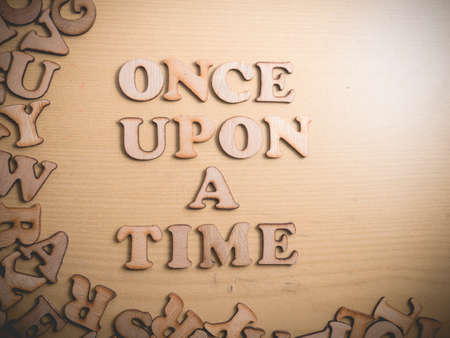 Photo pour Once Upon a Time, story telling motivational inspirational quotes, words typography lettering concept - image libre de droit