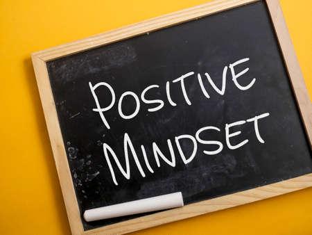 Photo pour Positive Mindset, business motivational inspirational quotes, words typography lettering concept - image libre de droit
