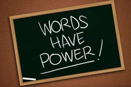 Foto de Words Have Power, business motivational inspirational quotes, words typography lettering concept - Imagen libre de derechos