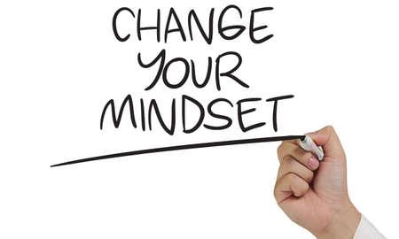Photo pour Change Your Mindset, business motivational inspirational quotes, words typography lettering concept - image libre de droit