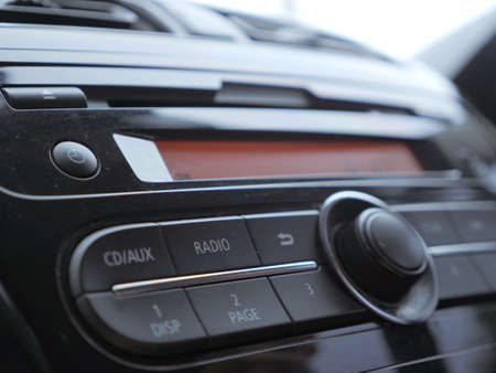 Photo for Close up image of car dashboard audio radio system console - Royalty Free Image