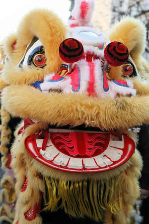 Photo pour Chinese New Years Dragon in Paris 2008 .Chinese New Year is called the festival or spring festival in China. 2021 will celebrate the year of the buffalo, the tiger in 2022 - image libre de droit