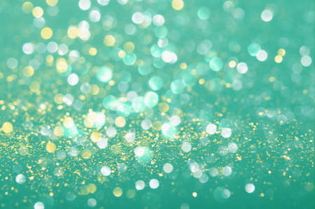 Photo for Abstract photo, blurred background in mint turquoise color with beautiful bokeh - Royalty Free Image