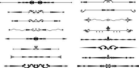 Text Divider Ornamental Design Vector Art