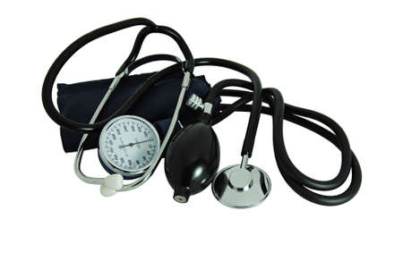 Photo pour Stethoscope to measure blood pressure and listen to heartbeats - medicine - image libre de droit