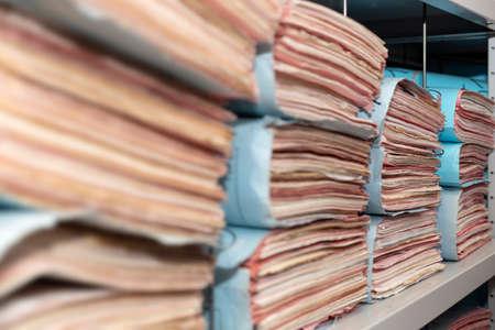 Filing shelf criminal files