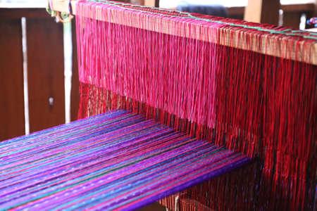 Weaving work - weaving machine in Guatemala