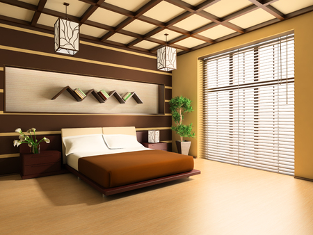 Bedroom in modern style 3d image
