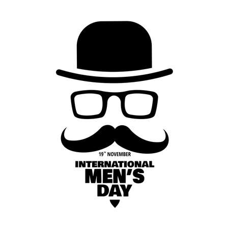 Illustration for Vector illustration on the theme International Men's Day. For a poster or banner and greeting card. - Royalty Free Image
