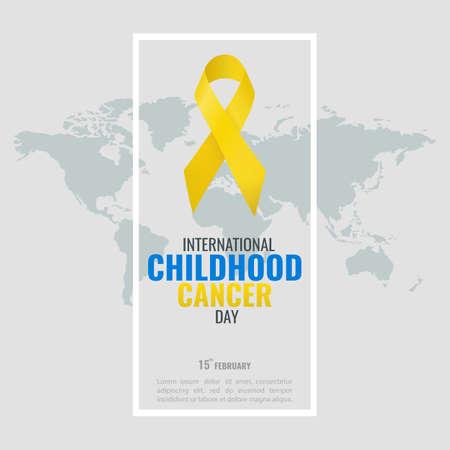 Ilustración de Vector illustration of the Childhood Cancer Day. - Imagen libre de derechos