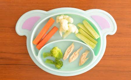 Foto de Baby Led Weaning (BLW) meal for Baby - Imagen libre de derechos