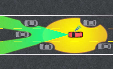 Smart car, Autopilot, self-driving mode vehicle with Radar signal system and and wireless communication, Autonomous car