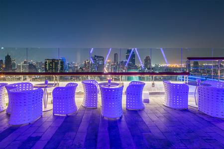 Photo for Rooftop Restaurant ,Bangkok ,Thailand - Royalty Free Image
