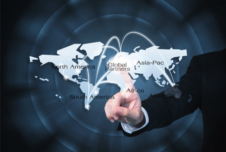 Global Partners Graphic use for import/export background