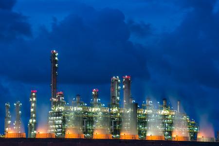 Foto für Landscape Boiler in stream power plant at night. Electricity power plant. - Lizenzfreies Bild