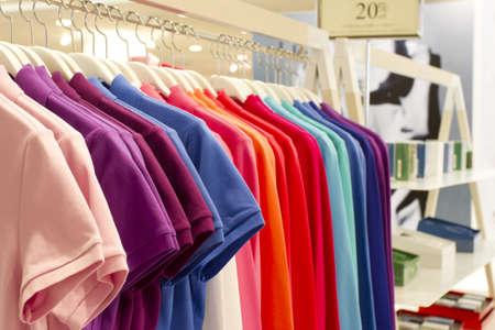 shirt row, colorful shirt row decoration.
