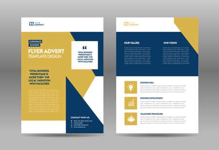 Illustration pour Corporate Business Flyer Design   Handout and leaflet design   Marketing sheet design - image libre de droit