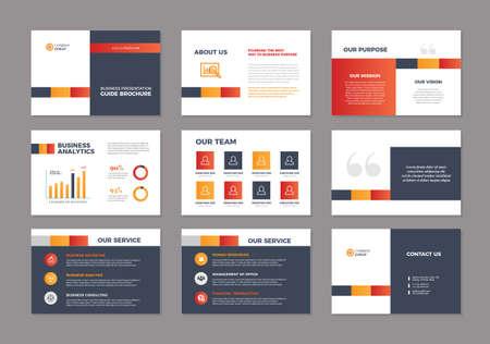 Illustration pour Business Presentation Brochure Guide Design |   Slide Template | Sales Guide Slider - image libre de droit