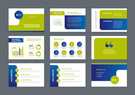 Illustration pour Business Presentation Brochure Guide Design , Slide Template , Sales Guide Slider - image libre de droit