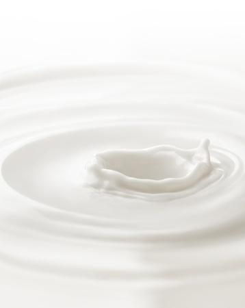 Photo pour Milk. Template for the falling in the milk of berry or a piece of fruit - image libre de droit