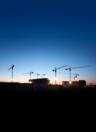 Photo for construction site against the evening sky - Royalty Free Image