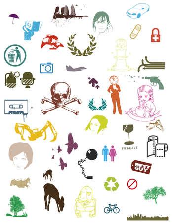 Illustration pour very colorful various vector in collection - image libre de droit