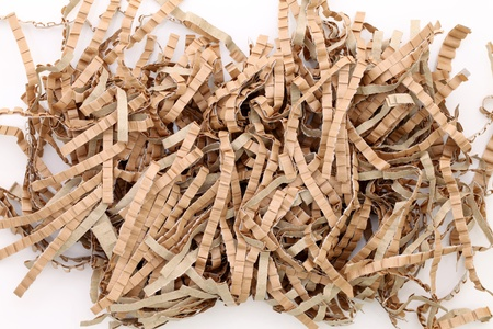 Shredded brown paper packing material