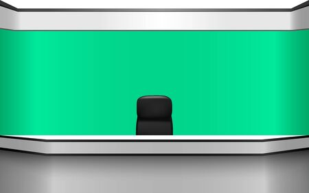 Illustration pour weater news studio room with the green background - image libre de droit