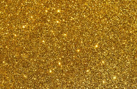 Photo for sparkles of golden glitter abstract background - Royalty Free Image