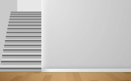 Illustration for white staircase in the white room - Royalty Free Image