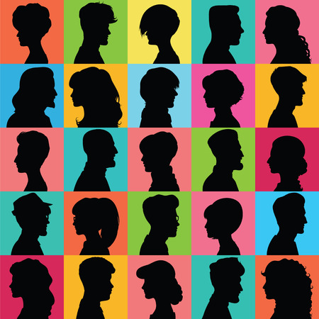 Illustration for Set of opposite-sex avatars for your design - Royalty Free Image