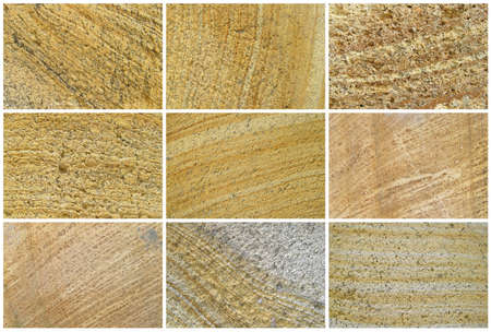 Nine Natural Limestone Background or textures. The real color. Without saturation of colors.