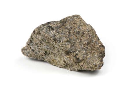Foto de Grungy  granite stone, marble rock isolated on white background. High resolution photo. Full depth of field. - Imagen libre de derechos