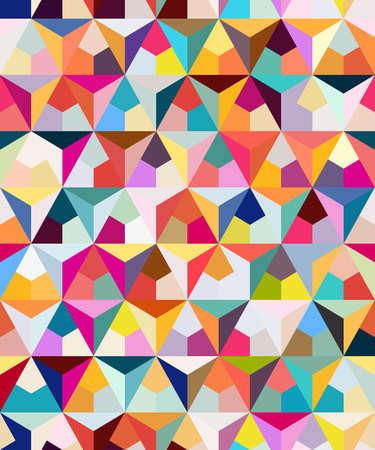Ilustración de Abstract seamless geometric pattern. Figures with many angles. Directional movement. - Imagen libre de derechos