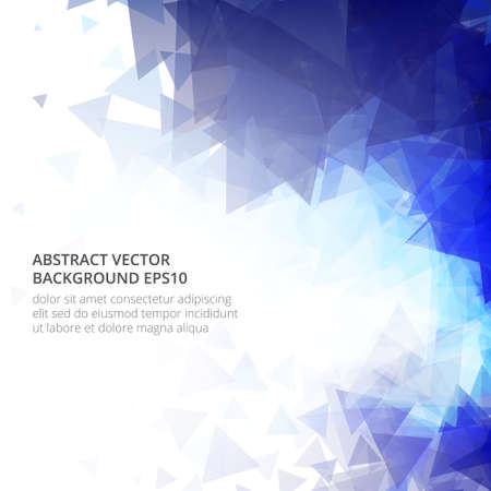Illustration for Light blue vector abstract and mosaic background. - Royalty Free Image
