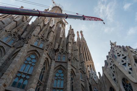 Construction site at the La Sagrada Familia cathedral in Barcelona, Catalonia