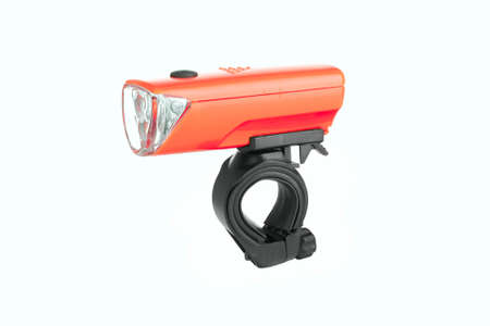 flashlight for Bicycle isolated,LED headlight for bicycle isolated on white background