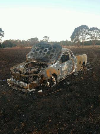 The care got burn down in the bush