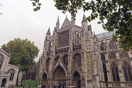 The Westminster Abbey in London
