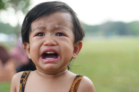 Cute Litle Girl Cry with Sad Face expression.