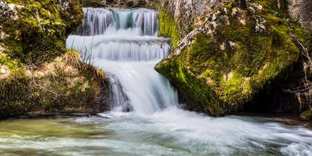 Water cascade at river Valsa