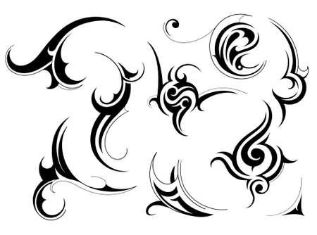 Illustration pour Set of tribal art patterns isolated on white - image libre de droit