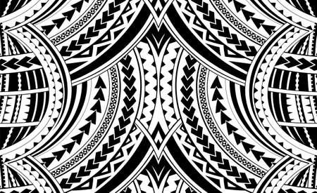 Illustration pour Samoa style ornament. Good for sleeve tattoo - image libre de droit