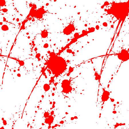 Illustration for Blood splatter seamless pattern on white surface - Royalty Free Image